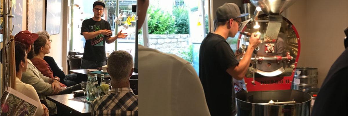 Kaffeeseminar in der kleinen Kaffeerösterei